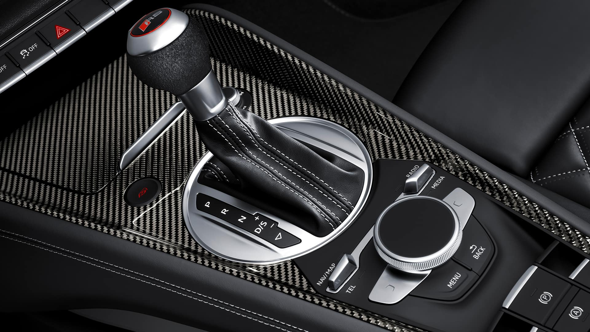 Center console Audi TT RS Roadster